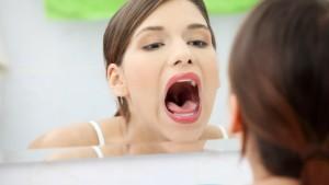 Pain in throat.